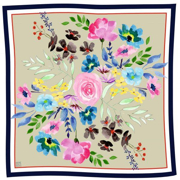 Pañuelo florido